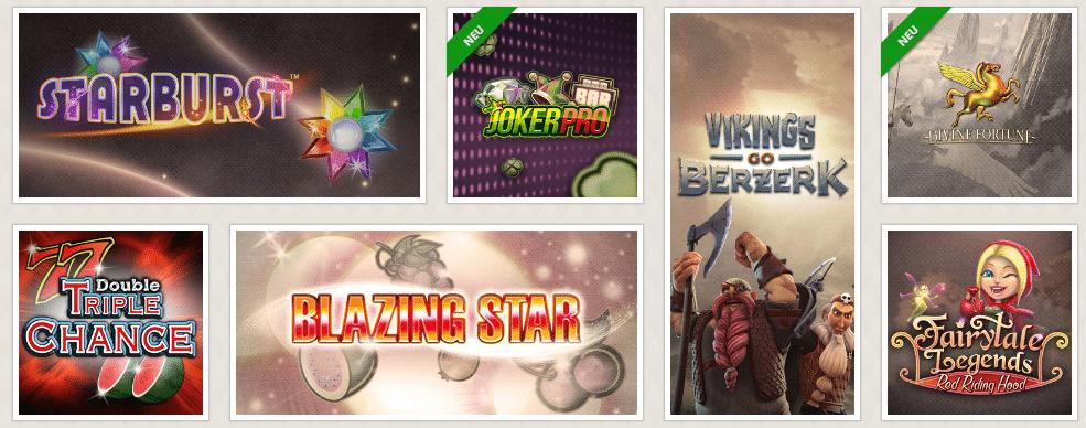 Interessante Slots und weitere Onlinegames entdecken