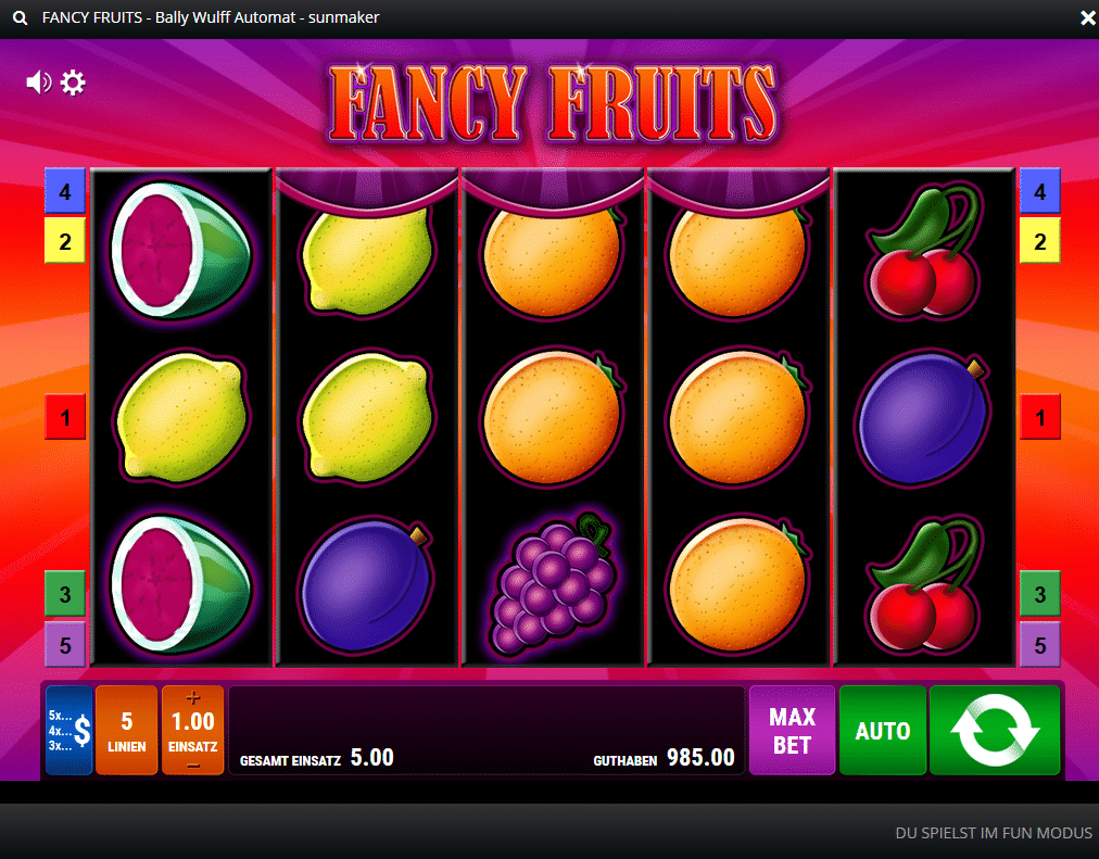 Fancy Fruits Spielcasino Online