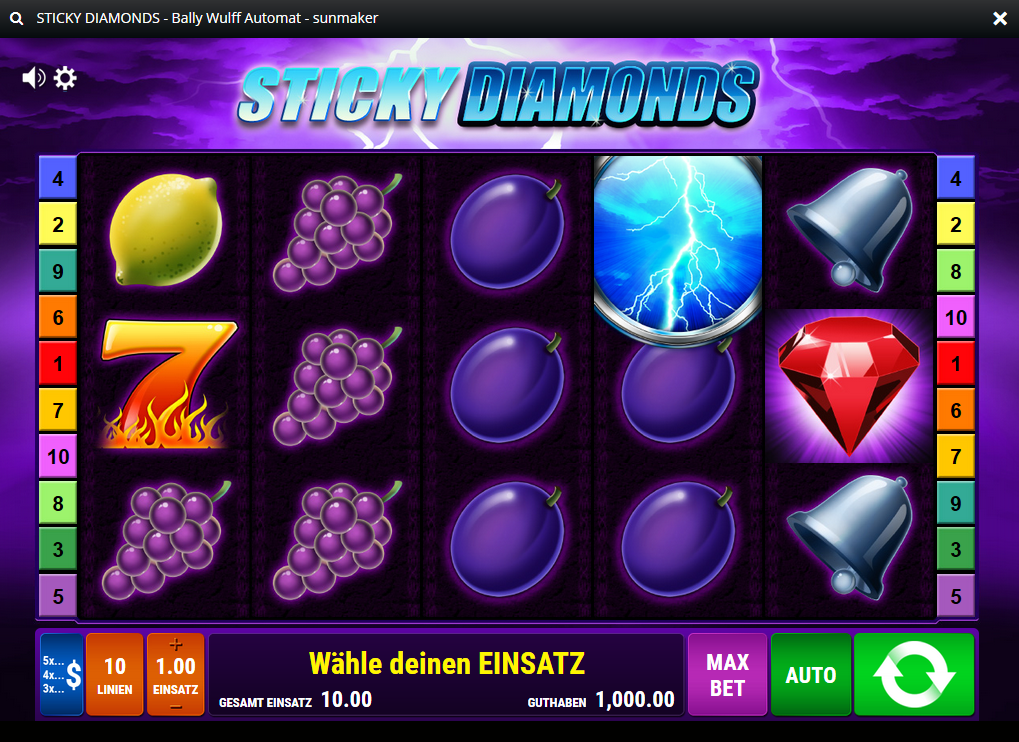 Sticky Diamonds Spielcasino Online