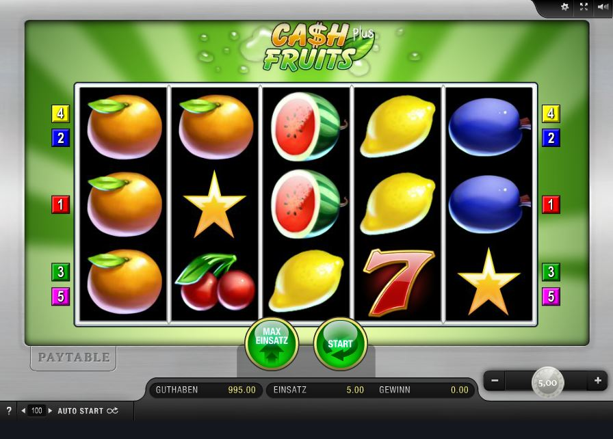 Cash Fruits Automatenspiel