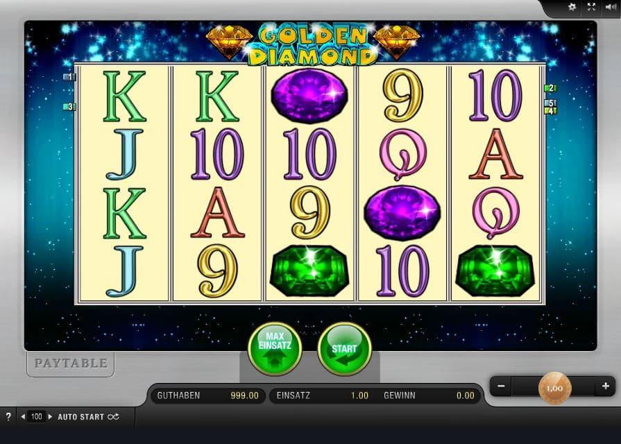 Golden Diamond in der Online Spielothek sowie Bonus Angebote