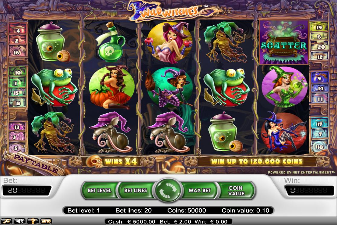 NETENTWild Witches Spielcasino Online
