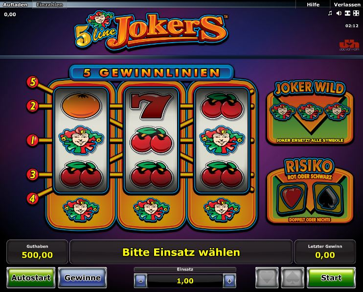 online casino novoline jokers online