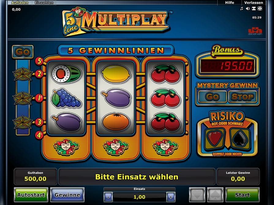 Spiele 5 Line Multiplay - Video Slots Online