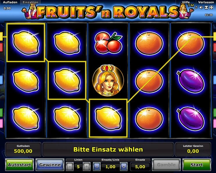 Fruits'n Royals Novoline Online