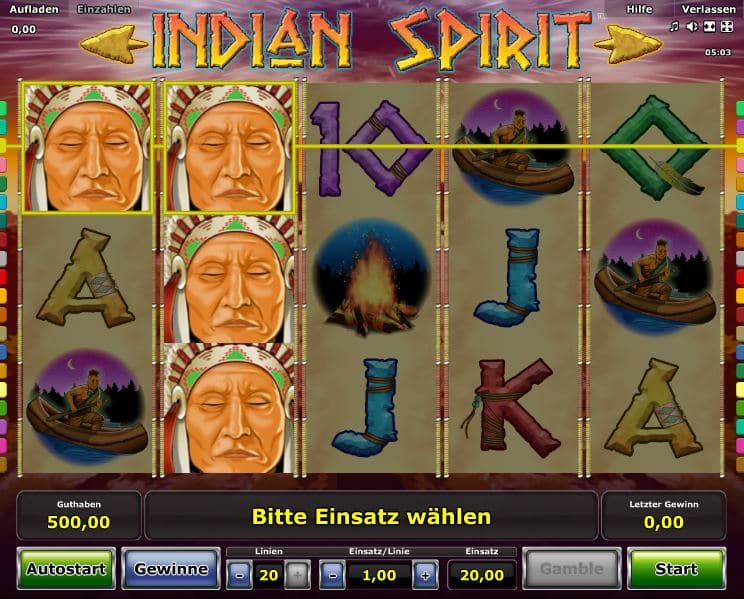 Indian Spirit Spielcasino Online