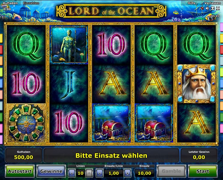 Lord of the Ocean Spielcasino Online