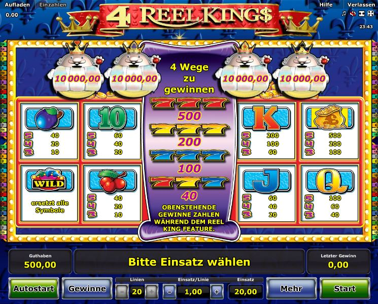europa casino online reel king