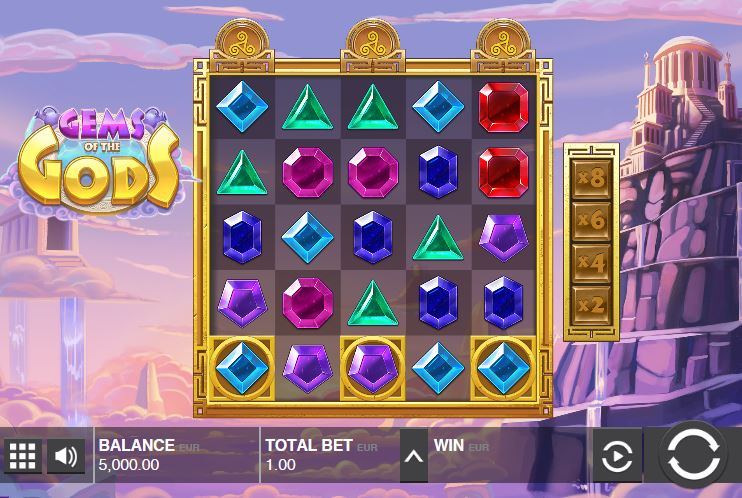 Gems of the Gods Spielcasino Online